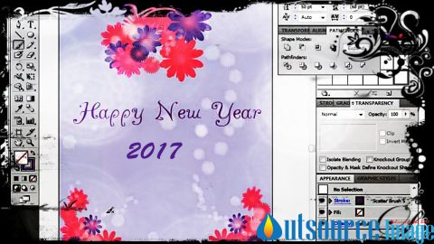 Greeting Card designing service providers for New year-2017greeting card