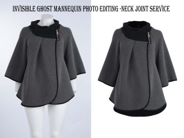 Invisible ghost mannequin photo editing | Neck joint service