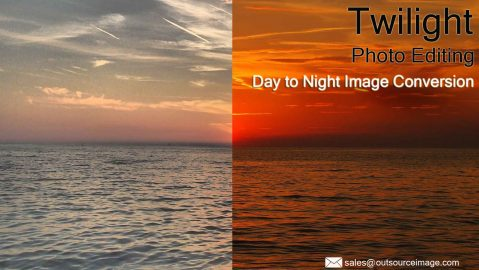 Real Estate Day to Night Photo Conversion Services | Day to Dusk Conversion