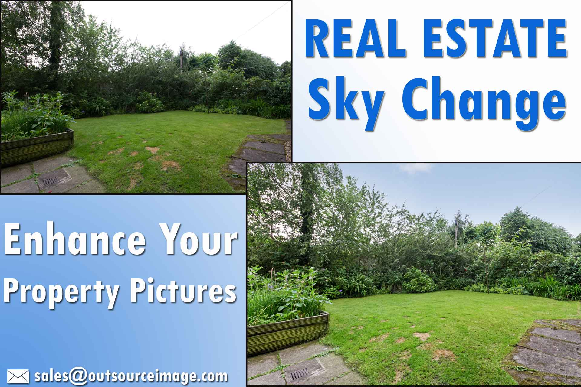 Photo Sky Replacement Services | Sky Changing in Real Estate Image Editing Services