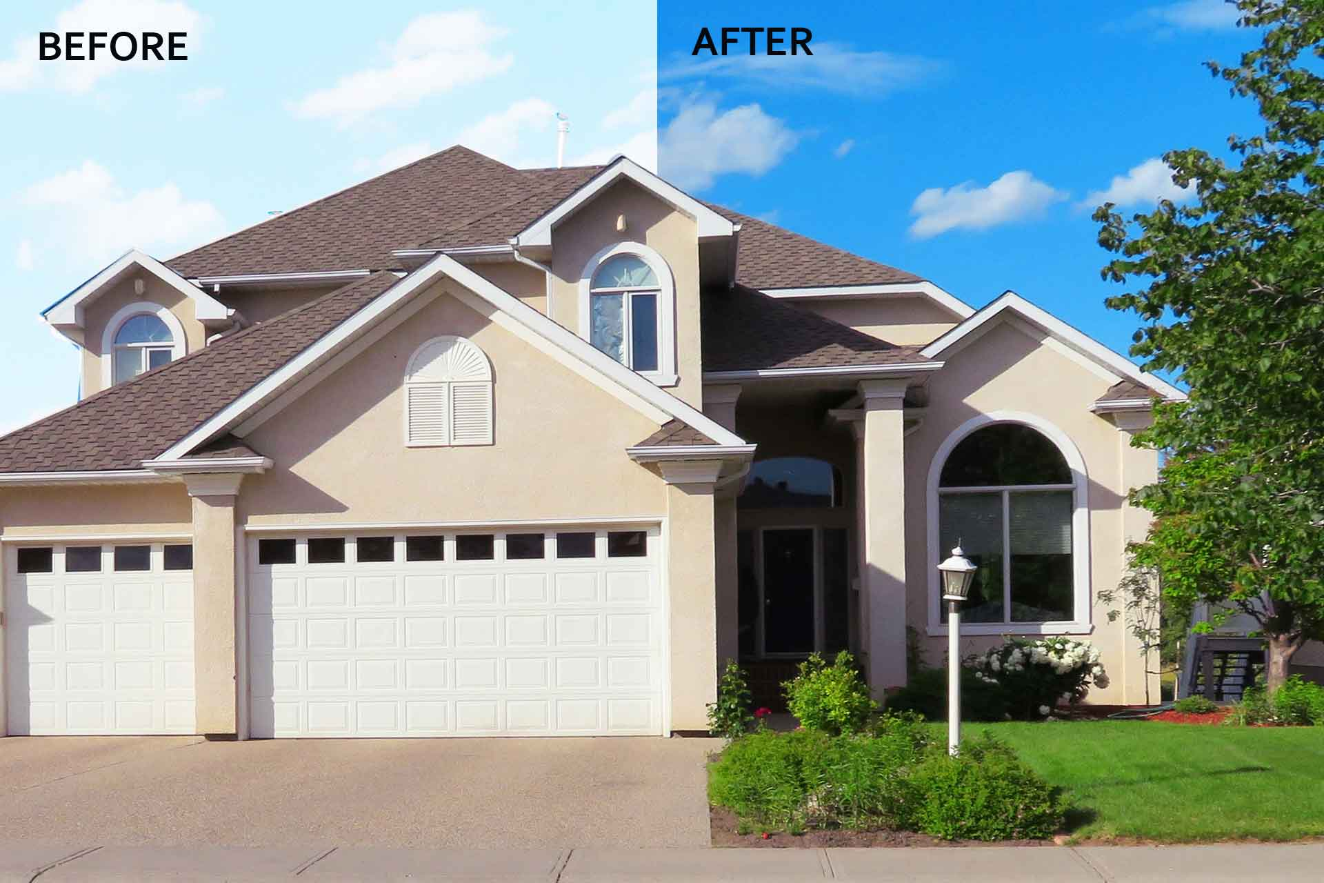 Sky Change Services to Property Images | Real Estate Sky Replacement Services